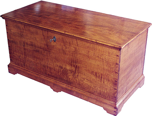 TIGER MAPLE BLANKET CHEST  (BC103)