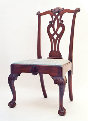 PHILADELPHIA SIDE CHAIR, MAHOGANY, AGED FINISH  (C109)