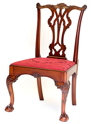 AFFLECK PHILADELPHIA SIDE CHAIR, MAHOGANY, ONE OF A PAIR  (C110)