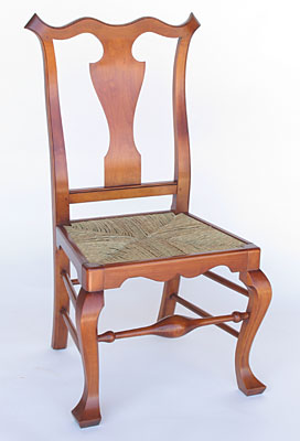 SAVERY RUSH SEAT SIDE CHAIR, MAPLE (C95)