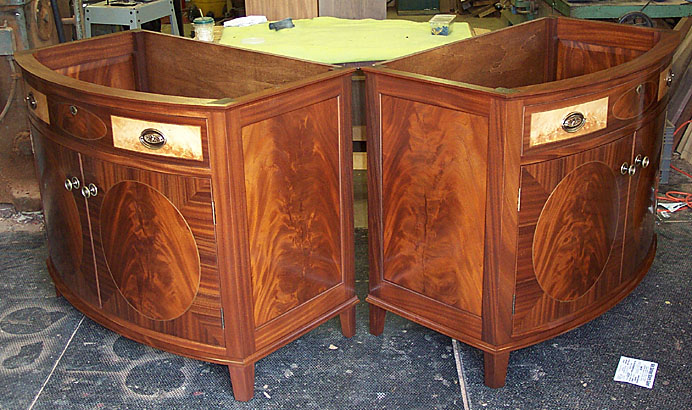 HEPPLEWHITE VANITY BASE, ONE OF A PAIR, MAHOGANY  (CH290)