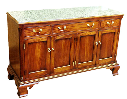 CREDENZA, MAHOGANY AND GRANITE  (CH301)