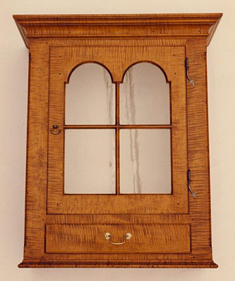 HANGING CUPBOARD, TIGER MAPLE (CUP405B)