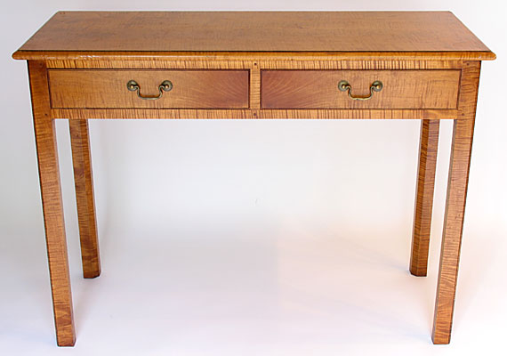 WRITING TABLE, TIGER MAPLE  (T112)