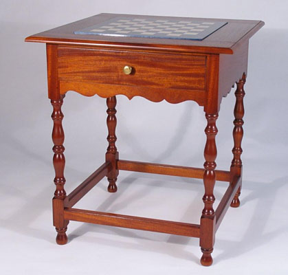 CHESS TABLE WITH TWO DRAWERS (T135)