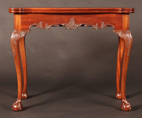 "PHILADELPHIA CARD TABLE, MAHOGANY, 34"" X 34"" OPEN (T150A)"