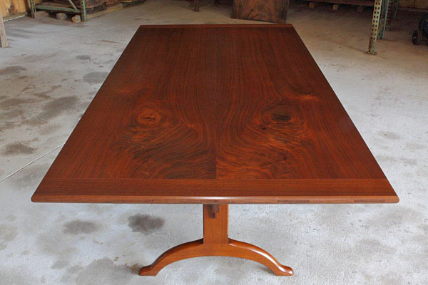 SHAKER TRESTLE DINING TABLE 48W. X 97L. WALNUT (T-197)