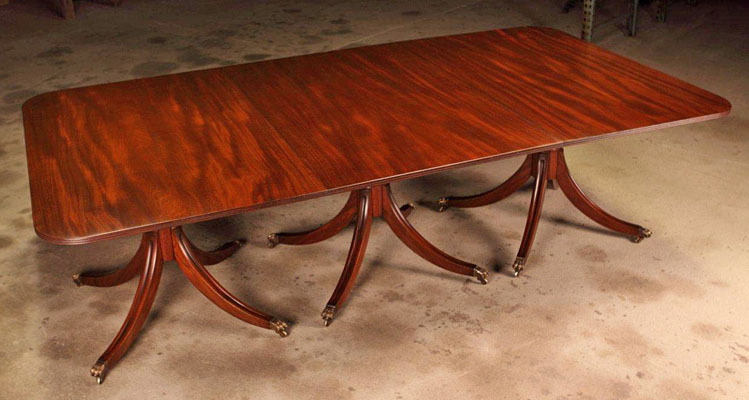 "FEDERAL DINING TABLE IN MAHOGANY WITH AGED FINISH 55"" X 100"" (T205)"